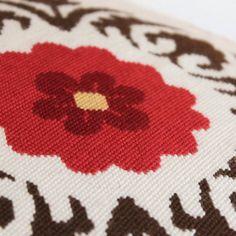 suzani modern cross stitch or needlepoint by ModernNeedleworks