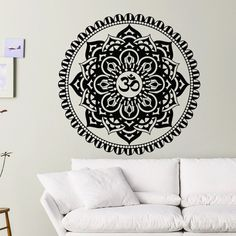 Mandalas Floral Design Wall Stickers Indian Flower Home Decoration Wall Art Decals Removable Vinyl Wall Murals  $11.45