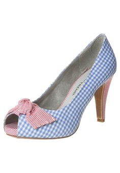 Tamaris - Spuntate alte - blu  #vintage #shoe #scarpe