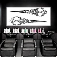 Wall Decal Vinyl Sticker Decals Art Decor Design Hair Salon Scissors Retro Curls Beauty Hair Stylist Vintage Fashion Barber Cosmetic M1534 DecorWallDecals http://www.amazon.com/dp/B010HK7W9O/ref=cm_sw_r_pi_dp_HgRJvb1RCFQF1