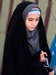 Iranian Girl in Chador
