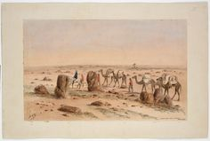 Burke and Wills Expedition / Samuel Thomas Gill. 5. Crossing the Stoney Desert