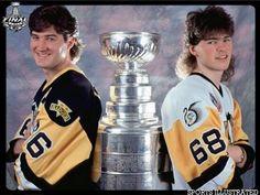 Mario Lemieux, Jaromir Jagr, and The Stanley Cup, circa 1992