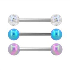 Covet Jewelry Multi Blue Bead Antique Silver Butterfly 316L Surgical Steel Industrial Barbell