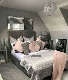 Cute Bedroom Ideas, Room Ideas Bedroom, Dream Bedroom, Home Decor Bedroom, Bed Room, Attic Bedroom Ideas For Teens, Master Bedroom, Budget Bedroom, Diy Bedroom