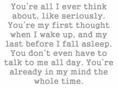 You're in my mind the whole time