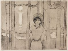 1894 Summer Night. The Voice etching and drypoint on ivory wove paper 24.4 x 31.7 cm (image)