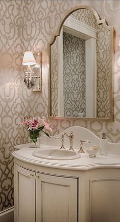Lovely powder room
