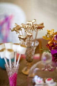 Gold Animal Wedding Drink Cocktail Stirrers, Swizzle Sticks, Toppers - Pack of 36. £48.99, via Etsy.