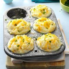 Mashed Potato Cups Recipe from Taste of Home -- shared by Jill Hancock of Nashua, New Hampshire