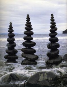Jenna Bytheway -Another piece of Art by Andy Goldsworthy, made from stones / rocks stacked on top of each other , placed in a scenic background to make an impact that he is an environmentalist . i personally think its really creatively different and i would have liked to have known how he got the stones stacked up on each other.