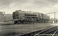 1956: picture of lightening after a run to Plymouth, 70019