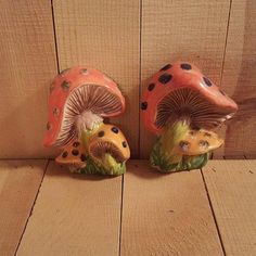 Set of Two Mushroom Wall plaques by ArtfulEarthCeramics on Etsy