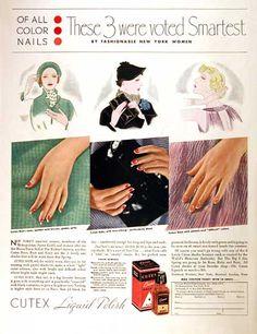 anucio publicitario cutex vintage