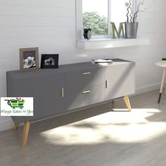Matt Grey Retro Sideboard Wood Cupboard Storage Unit TV Stand Lowboard Furniture | Home, Furniture & DIY, Furniture, Sideboards & Buffets | eBay!