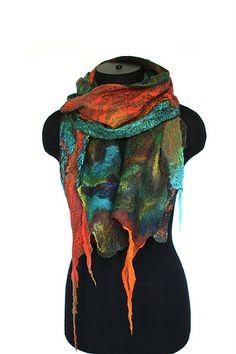 Nuno Felted Textured Scarf | Superfine Australian merino woo… | Flickr