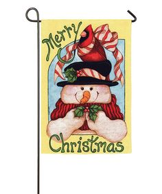 Look what I found on #zulily! 'Merry Christmas' Snowman Flag #zulilyfinds
