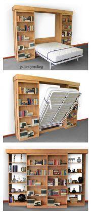 Next Post Previous Post DIY Modern Farmhouse Murphy Bed with Bookcase Bibliothek Murphy Bett Murphy Bed Bookcase, Murphy Bed Ikea, Murphy Bed Plans, Bookshelf Wall, Bookshelf Ideas, Murphy Bef, Diy Bookcases, Bedroom Bookshelf, Bookshelf Design