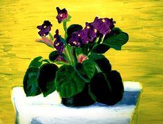 Bridlington Violets, 1989 / David Hockney
