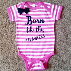 3ac1076f01b5 Born Like This -  Flawless - Striped Onesuit - Girls Onesuit - Body Suit -
