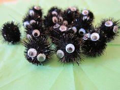 The easy glitter pom pom googly eye version of soot sprites!