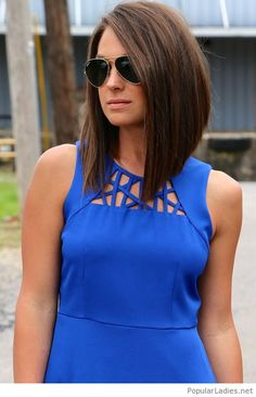 amazing-long-angled-bob-with-a-blue-dress