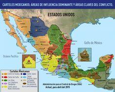 Mapa del vicio: Las áreas de control e influencia de los carteles en el territorio mexicano .