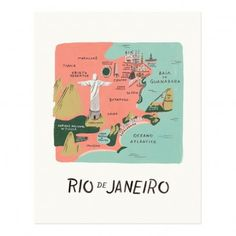 Rifle Paper Co Rifle Paper Rio Poster - 28x35 cm `One size To stand * Length : 35 cm, Width : 28 cm. * Made in : USA * Composition : Recycled paper * Details : Printed on paper from durably managed forests (FSC) http://www.MightGet.com/january-2017-13/rifle-paper-co-rifle-paper-rio-poster--28x35-cm-one-size.asp