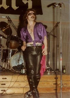 Early live shot from KING DIAMOND with BRATS (pre-MERCYFUL FATE)