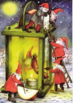 christmasillustr.quenalbertini: Vintage Christmas by Carina Ståhlberg
