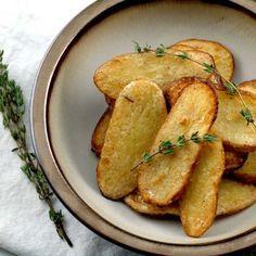 Salt + Vinegar roasted potato slices.