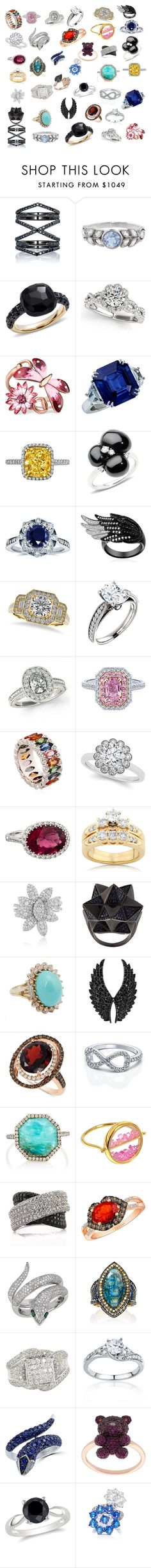 """My Favorite Rings"" by galactic-girl ❤ liked on Polyvore featuring Eva Fehren, Cathy Waterman, Pomellato, Gucci, Kobelli, Allurez, Niquesa, Effy Jewelry, John Brevard and Vintage"