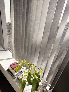 pinned by www. Decor, Umbra, Curtains, Vertical Blinds, Windows, Interior, House, Home Decor, Room