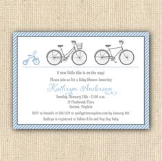 Baby bicycle baby shower invitations by briana nielson at minted tricycle bicycle baby shower invitations diy by poofyprints 2400 filmwisefo