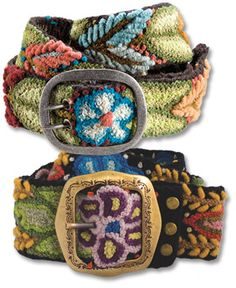 Made from Peruvian wool, hand embroidered with colorful leaves and flowers