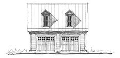 Garage Plan 73763 - Historic Style 2 Car Garage Apartment Plan with 391 Sq Ft, 1 Bed, 1 Bath Micro House Plans, Best House Plans, Country House Plans, Garage Loft, Garage House, Car Garage, Garage With Room Above, Garage Plans, Garage Ideas