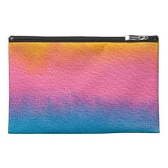 Textured Spring Watercolor Travel Accessories Bags