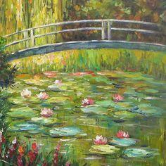 Resultado de imagem para claude monet the waterlily pond green harmony Monet Paintings, Impressionist Paintings, Paintings I Love, Beautiful Paintings, Landscape Paintings, Claude Monet, Artist Monet, Monet Water Lilies, Famous Art
