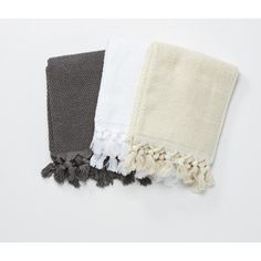 HAND TOWEL | white, dove grey or charcoal by cloth + co