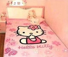 Fashion Hello Kitty Coral Velvet Blanket Queen Quilt Bed Sheet Carpet | eBay  (man, I looooove this one !!!!!) hmmmm......