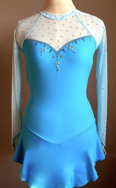 Custom Frozen Elsa Figure Skating Dress by SkatingDressbyKelley
