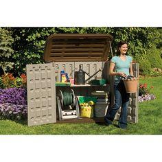 Arcón de resina BMS 3200 Almacenamiento horizontal al aire libre. Arcón de resina SUNCAST está diseñado para durar toda la vida. Ideal para almacenar herramientas, accesorios de jardín o de piscina. Dispone de tapa con cerramiento de seguridad.