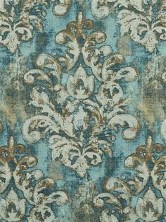 Orleans 545 Mineral Medallion from Covington Fabric. Perfect for window treatments, furniture upholstery, bedding or event decorating. Faux Paint Finishes, Covington Fabric, Floral Upholstery Fabric, Dining Room Paint, Furniture Upholstery, Home Decor Fabric, Shabby Chic Furniture, Home Decor Accessories, Abstract Pattern