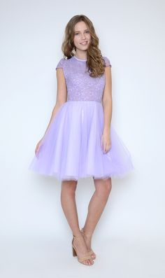 Buy jj Studio Laura Lilac Tutu Dress - Jones and Jones Fashion Dresses