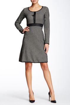 abe701b141f Grid Pattern Dress by Max Studio on  HauteLook Pink Wardrobe