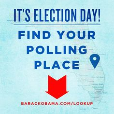 Confirm your polling place at http://barackobama.com/lookup then grab a friend and go vote together!