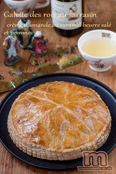 Macaronette et cie- Galette des rois crème d'amande au caramel et pommes ou la galette des rois bretonne ;o)
