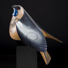 New Zealand Blue Wattle Crow Rex Homan Native Art, Native American Art, New Zealand Art, Maori Art, Southwest Art, Bird Sculpture, Indigenous Art, Aboriginal Art, Art Model