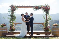 Married in THE MEADOW at The Mountain Winery in Saratoga, CA / Photo Credit LISA WHALEN PHOTOGRAPHY   / Gown by Ju.Lee Collection / Flowers by Lani Elizabeth / Altar Rewined Desigins