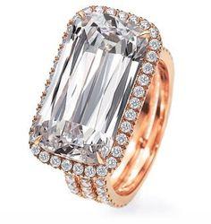 CHOPARD-inel cu diamant tăiat Ashoka